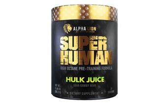 Alpha Lion SUPERHUMAN Pre-Workout V2 Hulk Juice, 21 Servings