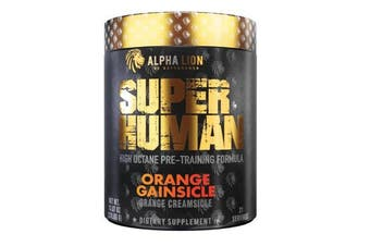 Alpha Lion SUPERHUMAN Pre-Workout V2 Orange Gainsicle, 21 Servings