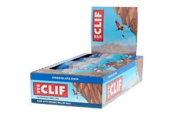 Clif Bar High Protein Organic Energy Bars + Vitamins & Minerals - Chocolate Chip, 12 Bars (68g each)