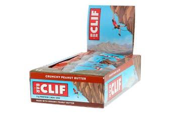 Clif Bar High Protein Organic Energy Bars + Vitamins & Minerals - Crunchy Peanut Butter, 12 Bars (68g each)