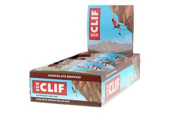 Clif Bar High Protein Organic Energy Bars + Vitamins & Minerals - Chocolate Brownie, 12 Bars (68g each)