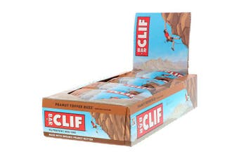 Clif Bar High Protein Organic Energy Bars + Vitamins & Minerals - Peanut Toffee Buzz, 12 Bars (68g each)