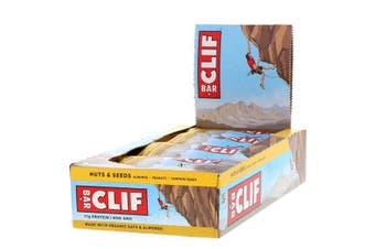 Clif Bar High Protein Organic Energy Bars + Vitamins & Minerals - Nuts & Seeds, 12 Bars (68g each)