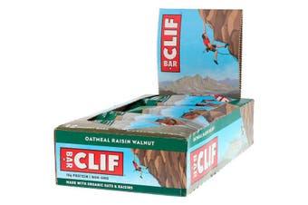 Clif Bar High Protein Organic Energy Bars + Vitamins & Minerals - Oatmeal Raisin Walnut, 12 Bars (68g each)