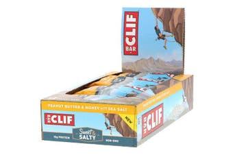 Clif Bar High Protein Organic Energy Bars + Vitamins & Minerals - Peanut Butter & Honey with Sea Salt, 12 Bars (68g each)