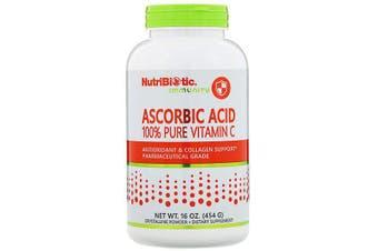 NutriBiotic Immunity Ascorbic Acid 100% Pure Vitamin C Pharmaceutical Grade Crystalline Powder 454g