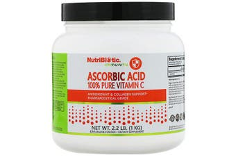 NutriBiotic Immunity Ascorbic Acid 100% Pure Vitamin C Pharmaceutical Grade Crystalline Powder 1kg
