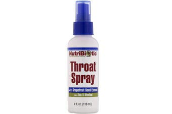 NutriBiotic Throat Spray with Grapefruit Seed Extract plus Zinc & Menthol - 118ml