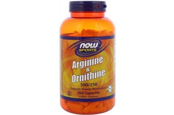 Now Foods Sports Arginine & Ornithine Free Form & HCl - 500mg /250mg 250 Capsules