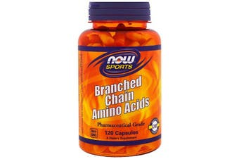 Now Foods Sports Branched Chain Amino Acids Pharmaceutical Grade BCAA's 120 Capsules