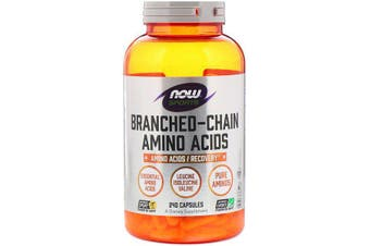 Now Foods Sports Branched Chain Amino Acids Pharmaceutical Grade BCAA's 240 Capsules