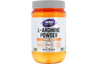 Now Foods Sports L-Arginine Powder 100% Pure Powder Nitric Oxide Precursor 454g