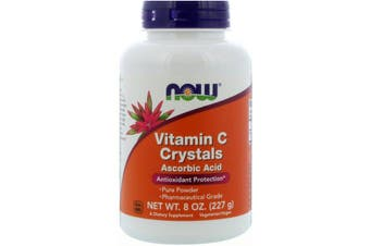 Now Foods Vitamin C Crystals Pharmaceutical Grade Ascorbic Acid Antioxidant Protection 227g