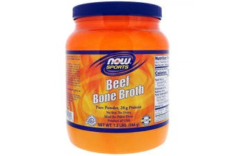 Now Foods Sports Natural Chicken bone broth concentrate powder Soy & Dairy Free 544g