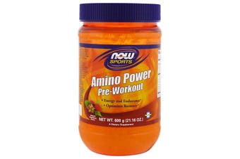 Now Foods Sports Amino Power Pre-Workout Natural Raspberry Flavour 600g