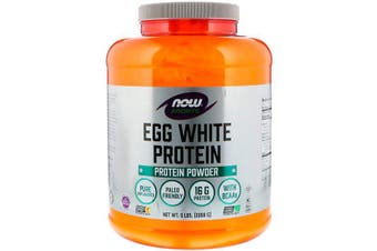 Now Foods Sports Natural Pure Egg White Protein Powder + BCAA's (2.26kg)