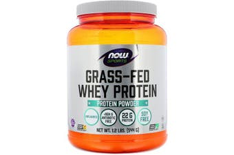 Now Foods Sports Grass Fed Whey Protein Powder Concentrate rBGH & Antibiotic Free Unflavoured 544g