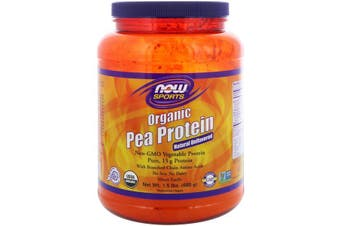 Now Foods Sports Organic Pea Protein No Soy Aspartame or Dairy - Natural Unflavoured 680g