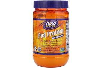 Now Foods Sports Pea Protein Powder No Soy Dairy Gluten Free & Vegan Allergen Friendly - Natural Unflavoured 340g