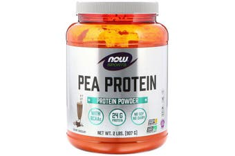 Now Foods Sports Pea Protein Powder No Soy Dairy Gluten Free & Vegan Allergen Friendly - Creamy Chocolate 907g