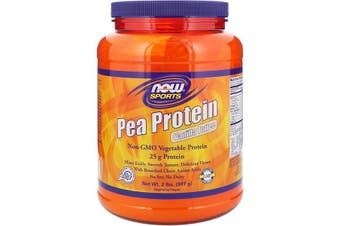 Now Foods Sports Pea Protein Powder No Soy Dairy Gluten Free & Vegan Allergen Friendly - Vanilla Toffee 907g