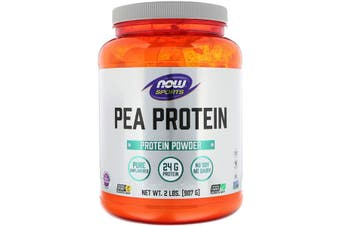 Now Foods Sports Pea Protein Powder No Soy Dairy Gluten Free & Vegan Allergen Friendly - Pure Unflavoured 907g