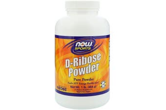 Now Foods Sports D-Ribose Powder Fuel ATP Energy Production 454g