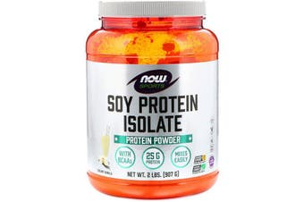 Now Foods Sports Soy Protein Isolate Powder Steroid Free + BCAA's Creamy Vanilla 907g