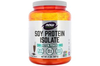 Now Foods Sports Soy Protein Isolate Powder Steroid Free + BCAA's Creamy Chocolate 907g