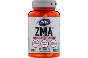 Now Foods Sports ZMA Night time Recovery Assists Electrolyte Balance & Healthy Immune System 90 Capsules