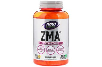 Now Foods Sports ZMA Night time Recovery Assists Electrolyte Balance & Healthy Immune System 180 Capsules