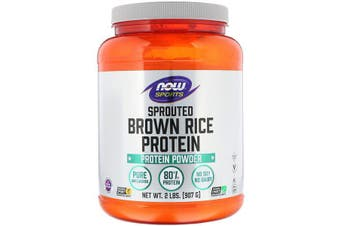 Now Foods Sports No Soy No Dairy 100% Pure Sprouted Brown Rice Protein Powder - Unflavoured 907g