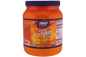 Now Foods Sports Organic Pea Protein No Soy Aspartame or Dairy - Natural Vanilla 680g