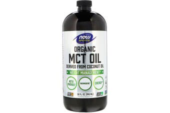 Now Foods Sports Organic MCT Oil Keto Friendly Thermogenic Coconut Oil 946ml