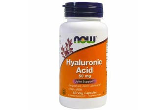 Now Foods - Hyaluronic Acid + MSM Joint Lubricant Support 50mg