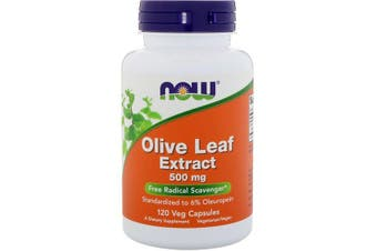 Now Foods Olive Leaf Extract Free Radical Scavenger - 500mg, 120 Veg Capsules
