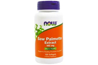 Now Foods Saw Palmetto Extract Supports Healthy Prostate Function - 160mg, 120 Softgels