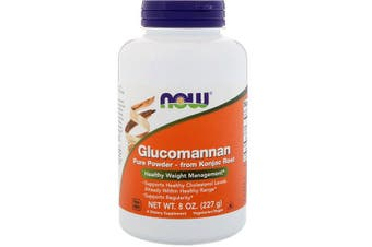 Now Foods Glucomannan 100% Pure Powder Konjac Root Extract 227g
