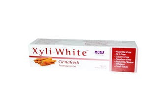 Now Foods Solutions XyliWhite Toothpaste Gel No SLS Gluten Paraben & Fluoride Free Cinnafresh 181g