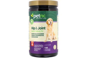 petnc NATURAL CARE Hip & Joint Health Level 4 Mobility Support for Dogs - Liver Flavour, 150 Chewables