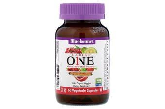 Bluebonnet Nutrition, Ladies' ONE, Whole Food-Based Multiple, 60 Vegetables Capsules