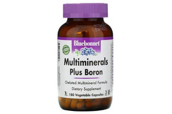 Bluebonnet Nutrition, Multiminerals, Plus Boron, 180 Vcaps