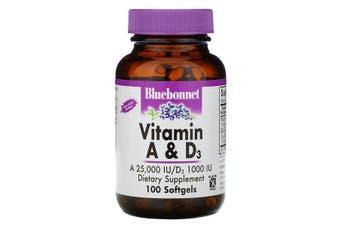 Bluebonnet Nutrition, Vitamin A & D3, 100 Softgels