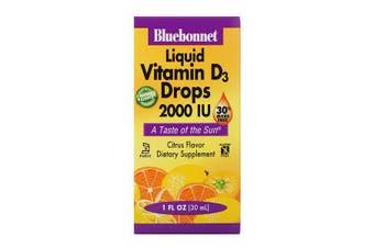 Bluebonnet Nutrition, Liquid Vitamin D3 Drops, Natural Citrus Flavor, 2,000 IU, 30 ml