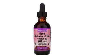 Bluebonnet Nutrition, Liquid Methylcobalamin Vitamin B12, Natural Raspberry Flavor, 5000 mcg, 59 ml