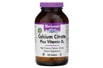 Bluebonnet Nutrition, Calcium Citrate Plus Vitamin D3, 180 Caplets