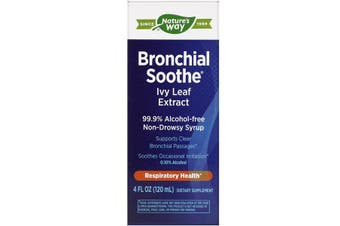 Nature's Way Bronchial Soothe English Ivy Leaf Extract Non Drowsy Alcohol Free Cough Syrup 120ml