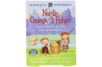 Nordic Omega-3 Fishies - Yummy Tutti Frutti Taste 300 mg, 72 Fishies