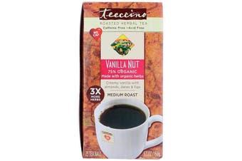 Teeccino Herbal Coffee Medium Roast Vanilla Nut No Caffeine - 25 Tee Bags (150g)