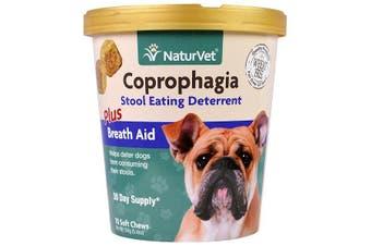 NaturVet Coprophagia Stool Eating Deterrent Plus Breath Aid - 70 Soft Chews, 154g